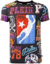 Philipp Plein printed T-shirt - men - Cotton/Crystal - M