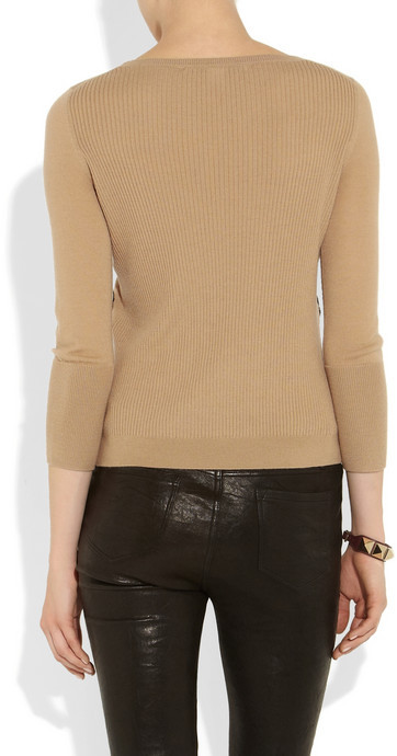 Diane von Furstenberg Shara lace-appliquéd wool sweater