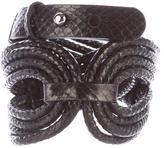Elie Tahari Snakeskin Waist Belt