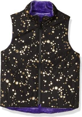 Spotted Zebra Reversible Plush Vest Down Alternative Jacket