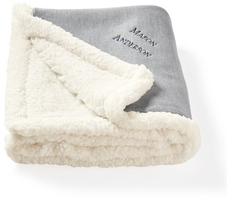 Mark And Graham Knit and Sherpa Stroller Blanket