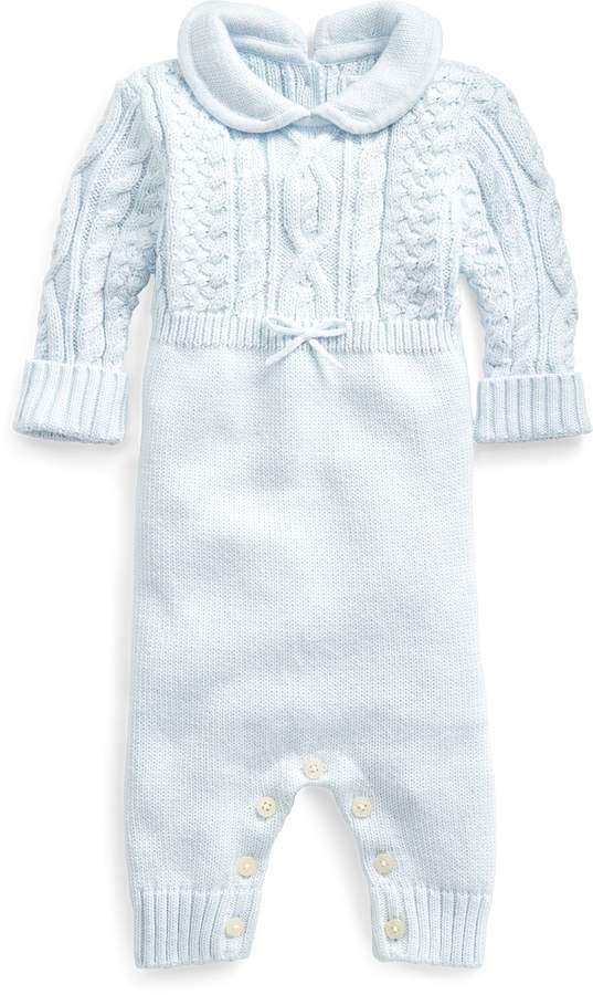 a108f0f51a Aran-Knit Cotton Coverall