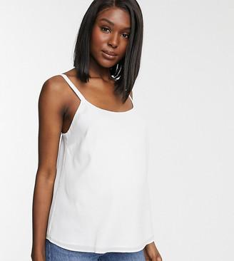 Asos DESIGN Maternity eco scoop neck cami-White