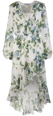 Blumarine Asymmetrical Skirt Floral Print Dress
