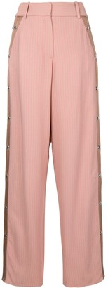 Sies Marjan buttoned striped wide leg trousers