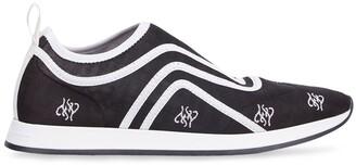 Fendi Karligraphy motif slip-on sneakers