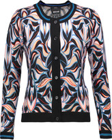 Just Cavalli Printed wool and cashmere-blend cardigan