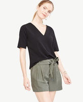 Ann Taylor Crepe Jersey V-Neck Tee
