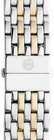Michele 'Deco' 18mm Two-Tone Bracelet Watch Band