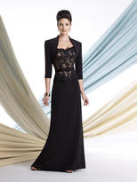 Mon Cheri Montage by Mon Cheri - 213960 Two Piece Dress In Black Nude