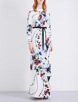 Erdem Floral-print silk-crepe gown