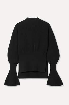 Alexander Wang Ribbed-knit Sweater - Black