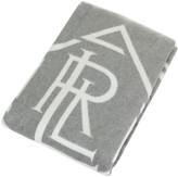 Ralph Lauren Home Monogram Grey/Cream Throw