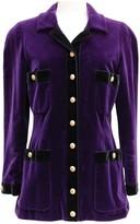 Chanel Purple Velvet Jacket for Women Vintage