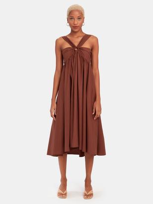Tela Casper Halter Midi Dress