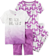 Carter's 4-Pc. Sweet Dreams Butterfly Cotton Pajama Set, Baby Girls (0-24 months)