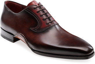 Magnanni Men's Segura Lace-Up Leather Loafers