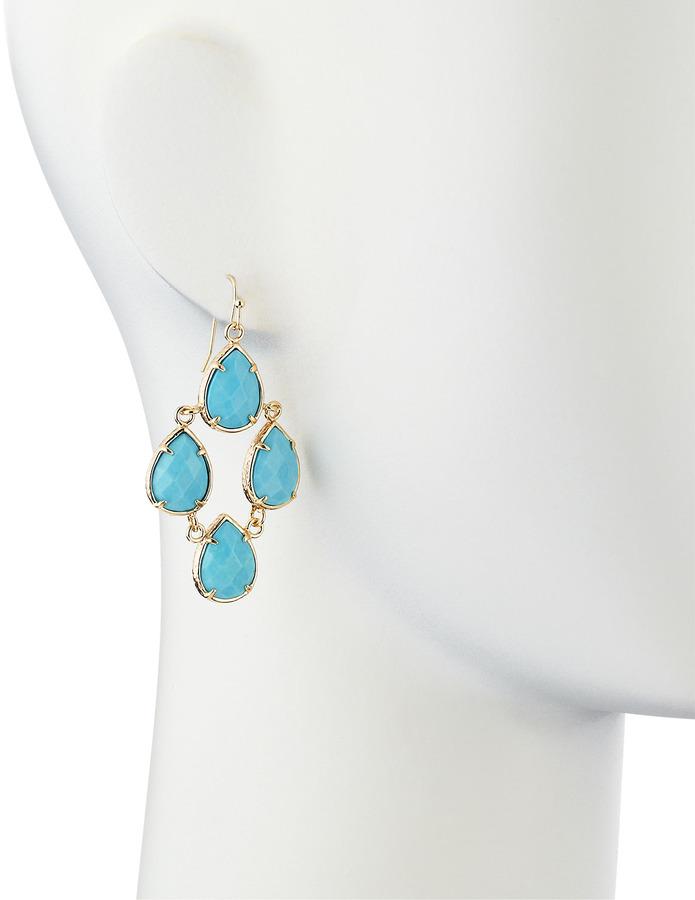 Kendra Scott Teardrop Chandelier Earrings, Turquoise