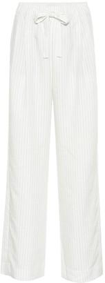 Vince Striped linen-blend pants