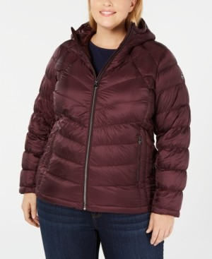 Michael Kors Michael Plus Size Packable Hooded Puffer Coat, Created for Macy's