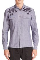 Tomas Maier Embroidered Chambray Shirt