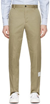 Thom Browne Beige Unconstructed Chinos