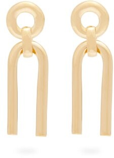 Alta Ora - Small Arc Gold-plated Drop Earrings - Gold