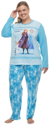 Disneyjammies For Your Families Disney's Frozen Plus Size Top & Bottoms Pajama Set by Jammies For Your Families