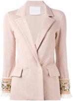 Giada Benincasa - embellished cuff blazer - women - Spandex/Elastane/Viscose - S