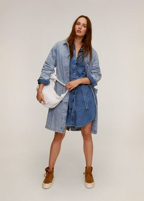 MANGO Belt denim dress dark blue - 2 - Women
