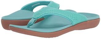 Spenco Yumi 2 Croco (Turquoise) Women's Sandals