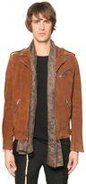 The Kooples Suede Leather Biker Jacket