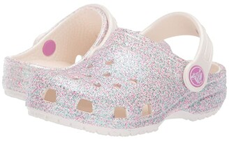 Crocs Classic Glitter Clog (Toddler/Little Kid/Big Kid) (Unicorn Oyster Glitter) Girls Shoes