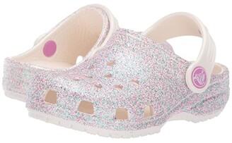 Crocs Classic Glitter Clog (Toddler/Little Kid) (Unicorn Oyster Glitter) Girls Shoes