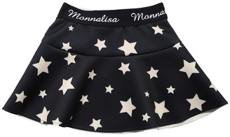 MonnaLisa STAR PRINT NEOPRENE MINI SKIRT