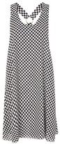 **360 Checkerboard Print Midi Dress by The Ragged Priest