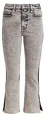 Proenza Schouler White Label Women's Colorblock Split Kick Flare Jeans