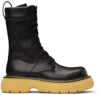 Bottega Veneta Black The Bounce Lace-Up Boots