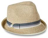 Merona Women's Ivory Trim and Bow Sash Fedora Hat - Tan