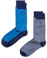 Original Penguin Intarsia Mid-Calf Socks (2 PK)