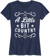 Instant Message Women's Women's Tee Shirts NAVY - Navy 'A Little Bit Country' Relaxed-Fit Tee - Women