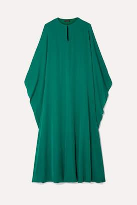 Reem Acra Draped Silk-georgette Midi Dress - Emerald