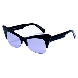 Italia Independent Women's 0908-009-GLS Sunglasses, Black (Negro)