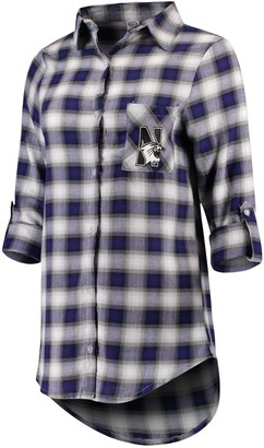 Women's Concepts Sport Purple/Black Northwestern Wildcats Forge Flannel Long Sleeve Button-Up Shirt