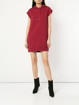 Alexander Wang Dence Fleece Hoodie Dress