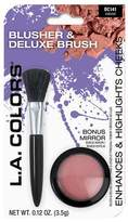 L.A. Colors Blusher & Deluxe Brush Bonus Pack, 2pc