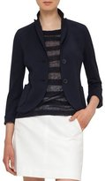 Akris Punto Jersey Patch-Pocket Blazer, Navy