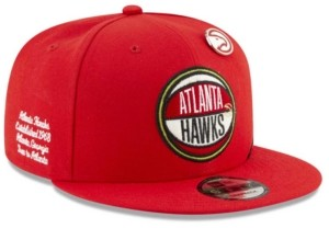 New Era Big Boys Atlanta Hawks 2019 On-Court Collection 9FIFTY Snapback Cap
