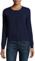 Neiman Marcus Cashmere Basic Button-Up Cardigan, Navy