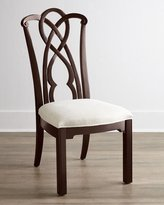 Horchow Two Marcella Mahogany Splat-Back Side Chairs